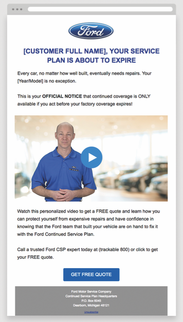 Ford CSP Email